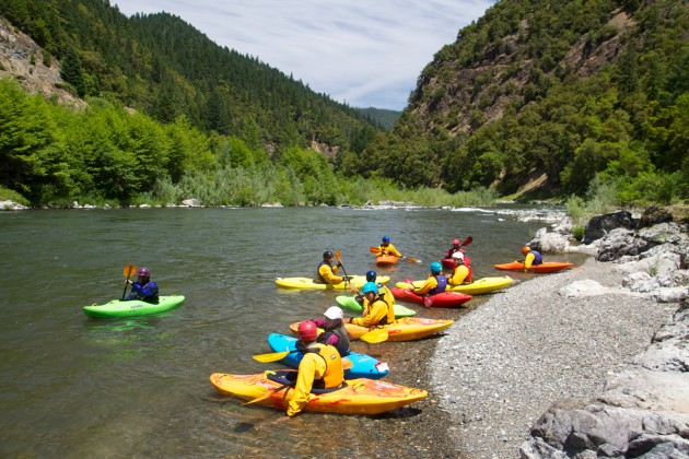 Kayak instruction along the beautiful Rogue River