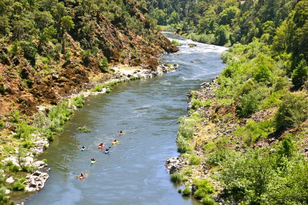 Kayaking on the recreation section of the Rogue River