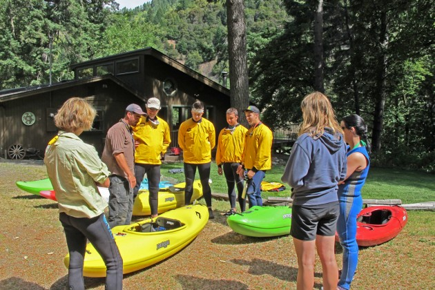 Beginning Kayak Instruction at the Sundance Lodge