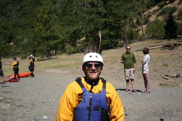 Big Chief Jim in Kayaking Attire on the Rogue River