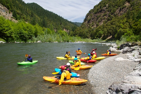 Kayakers on the Rogue River