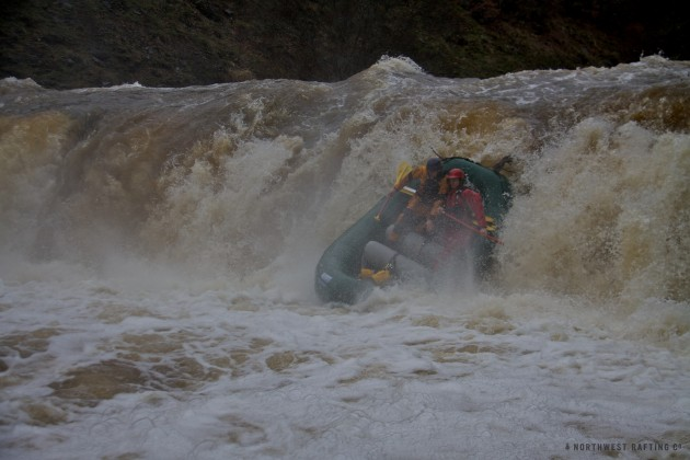 Raft Going Over the Falls