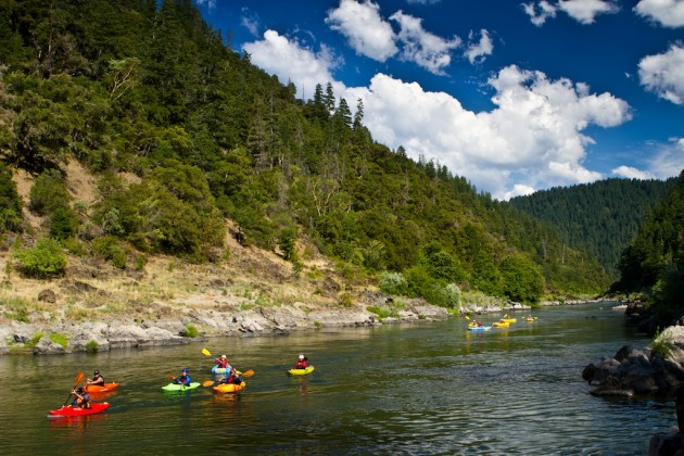 August kayaking trip on the Rogue River