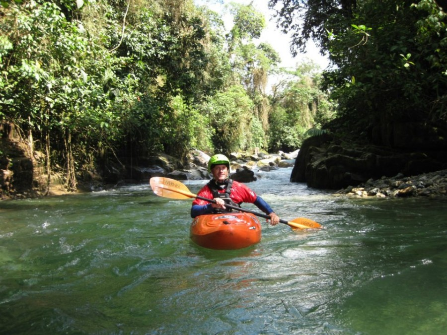 Andy exploring one of the many rivers in Ecuador
