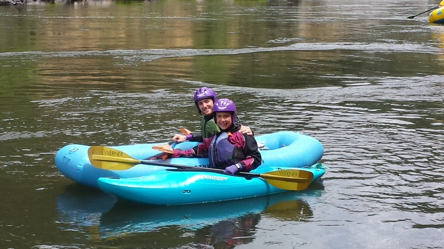 Charlie & Zoe together on the Rogue River