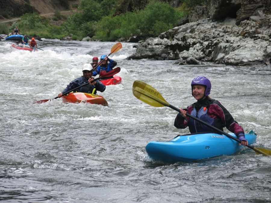 Success after one of the many fun rapids on the Rogue River