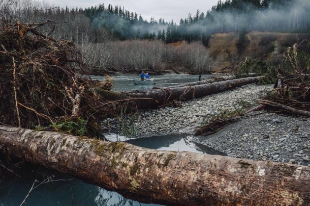 Nate Wilson Photography; Anglers on the Queets River, Washington
