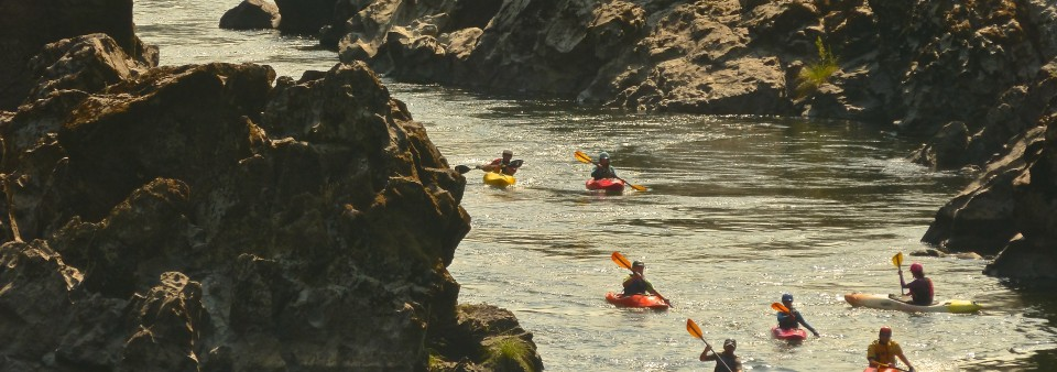 whitewater kayak lesson Rogue River