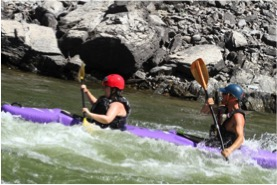 Going big in a topo duo kayak at First Descents