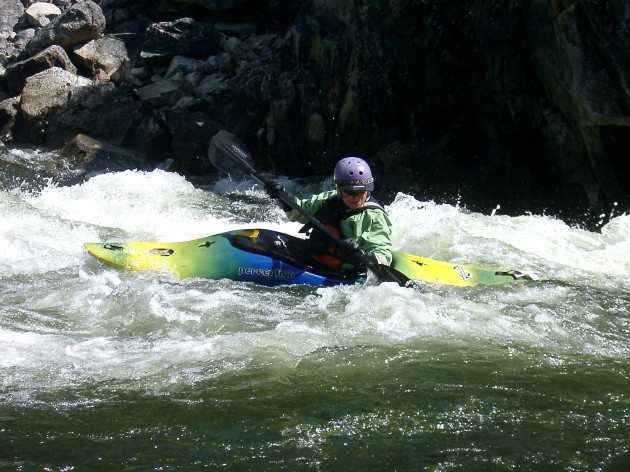 Kayaker Middle Fork Salmon River