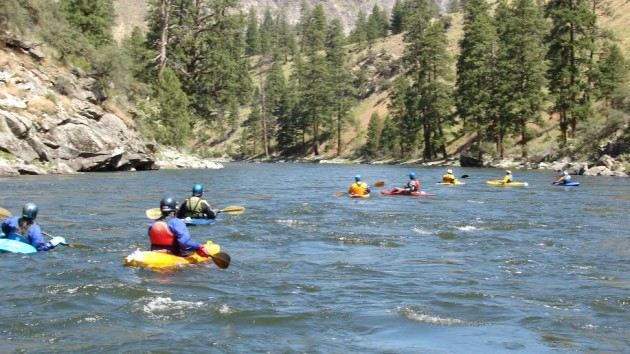 Kayaking Middle Fork Salmon River